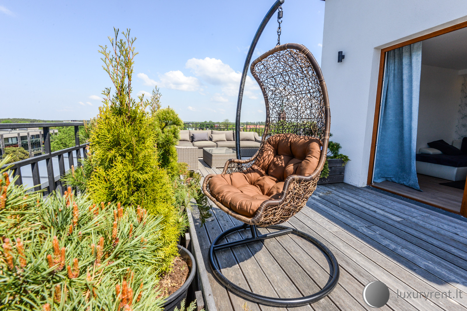 Sea View Penthouse Terrace Palanga Old Town